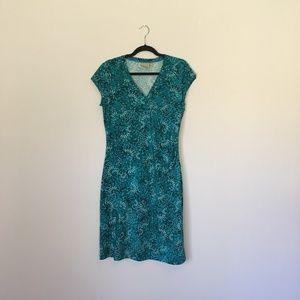 Athleta Nectar Print Sleeveless Faux Wrap Dress